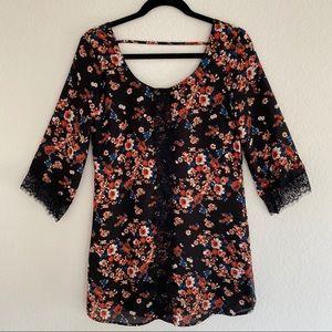 Socialite Black Floral Shift Dress